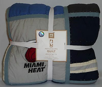 POTTERY BARN PB TEEN Basketball NBA Patchwork TWIN Quilt, EASTERN, NEW