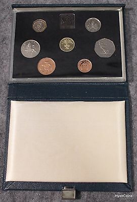 1985 United Kingdom Royal Mint 7 Coin Proof Set UK Great Britain