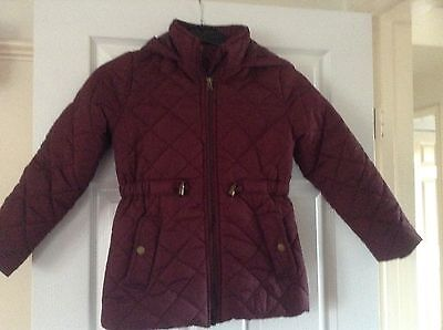 Girls burgundy quilted coat by Miss Evie age 9-10 years