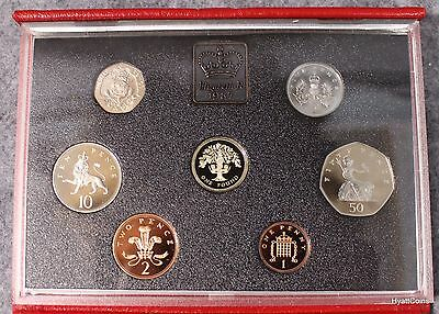 1987 United Kingdom British Royal Mint Proof Set UK Great Britain