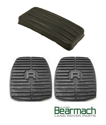 Land Rover Discovery 1 & 2 (Set of 3) Pedal Rubbers Accelerator, Clutch & Brake