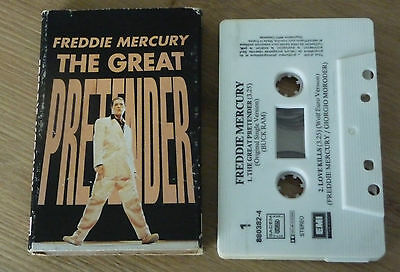 French Cassette K7 Tape : Freddie Mercury The Great Pretender 2 Titres 880382 4