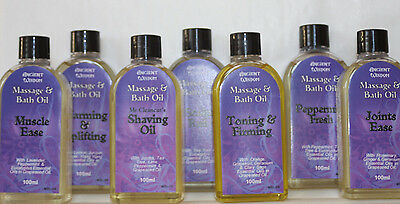 Massage & Bath Oils - 100ML-Toning/Scalp/Joints/Muscle/Warming/Shaving/Peppermin