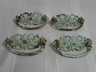 4 Antique French Provincial Dresser Handle Pulls