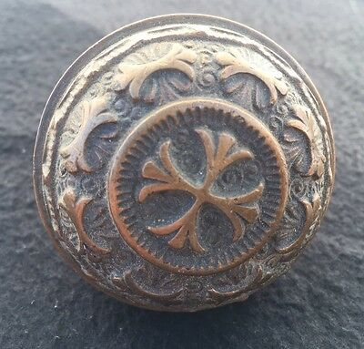 #3 Rare Antique Victorian Ornate Eastlake Bronze Door Knob Vtg Arch Salvage WOW