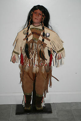 Timeless Collection Porcelain Indian Doll 26""