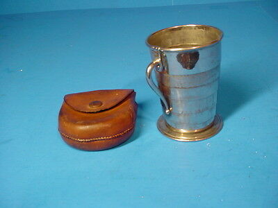 Vintage Civil War era Collapsible Cup.  C.F. Rumpp AND Son's,