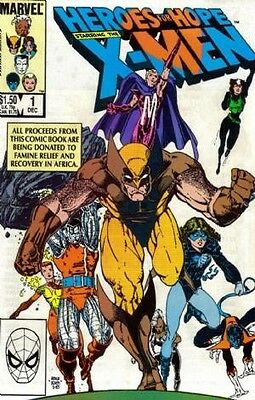"""Comic Marvel """"Heroes for Hope Starring the X-Men #1 Special"""" 1985 NM"""
