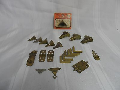 Brass Corners Accents Hinges Trim for Chest Decorative Pieces