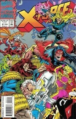 """Comic Marvel """"X-Force #2 Annual"""" 1993 NM (with original trading card inside)"""