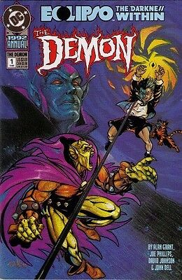 "Comic DC ""Eclipso/ the darkness within: The Demon #1 Annual"" 1992 NM"
