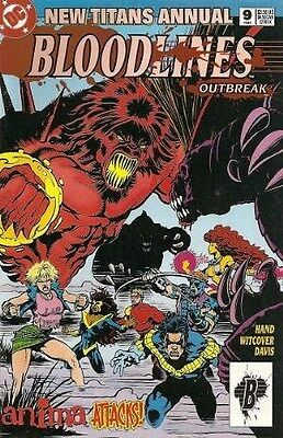"Comic DC ""New Titans: Bloodlines Outbreak #9 Annual"" 1993 NM"