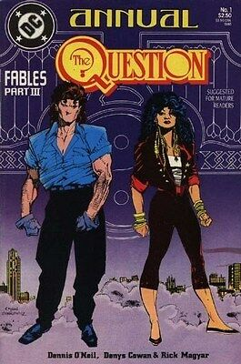 "Comic DC ""The Question #1 Annual"" 1988 NM"
