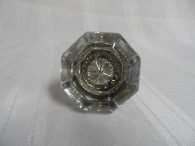 Antique 8 Point Glass & Brass Door Knob