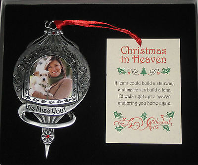 Christmas In Heaven Memorial Ornament We Miss You Photo Personalize Picture