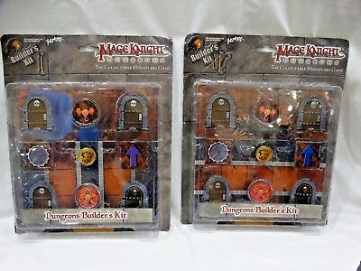 Mage Knight Dungeons Builder's Kit Miniatures Game Lot of 2 (Kit 1 & 3)  WizKids