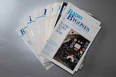 60 issues of RADIO BYGONES magazine - Aug/Sep 1989 to Oct/Nov 1999 - EXCELLENT