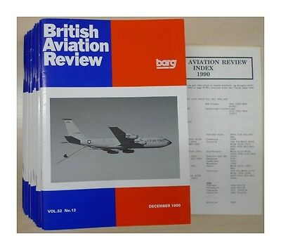 British Aviation Review Vol. 32 1990 complete (12 issues) published by: British