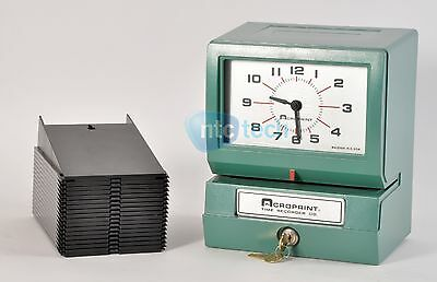 Acroprint Time Recorder / Time Clock 150NR4 w/ Time Card Holder and Key