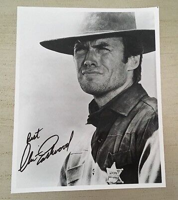 Clint Eastwood Hand Signed Photo Autographed