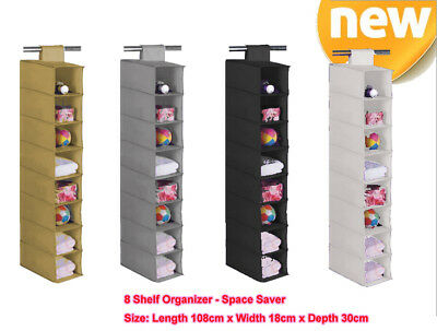 8 shelf closet hanging organizer Wardrobe Shoe Storage x1