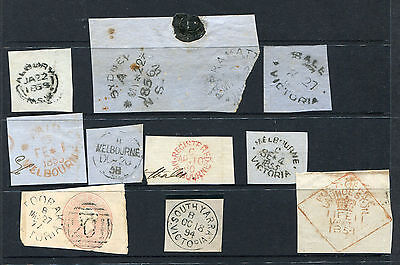 Victoria 1850S To 1890S  Nice Selection  Of 10 Early Postmarks Used