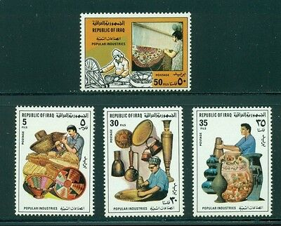 Iraq Scott #1019-1022 MNH Popular Industries Crafts Art $$
