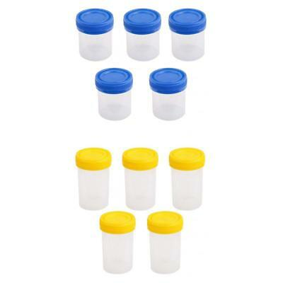 10pcs 60ml 40ml Graduated Specimen Cups Containers Sterile Jars Leakproof