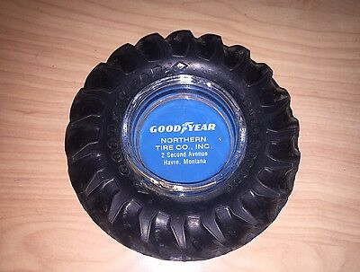 Vintage Goodyear Tractor Tire Ashtray Havre Mt