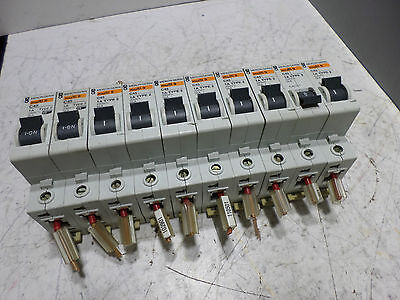MERLIN GERIN MINIATURE CIRCUIT BREAKER - Lot of 10 - 1 Pole Type 2 C45 -- 1 amp