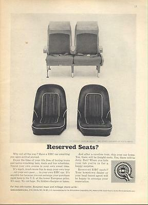 1962 BMC  Austin Healey Front Seats Boeing 707 seats PRINT AD