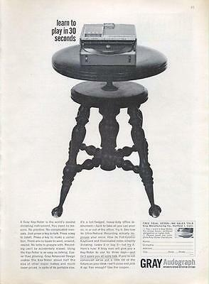 1962 Gray Audograph Portable Dictation System PRINT AD
