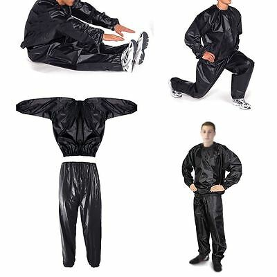 Heavy Duty Sweat Suit Sauna Suit Exercise Gym Suit Fitness Weight Loss UK