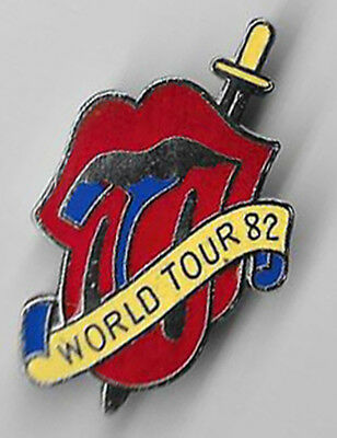 """The ROLLLING STONES """"Tongue"""" 1982 World Tour PIN"""