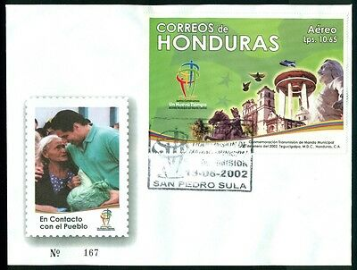 Honduras FDC: Scott #C1117L Cathedral of San Miguel Doves $$