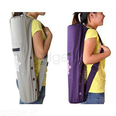 Hot Yoga Pilates Mat Gym Bag Harness Tote Pockets Carrying Handbag Case