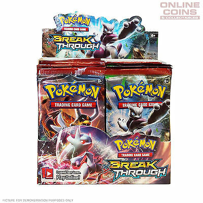POKEMON TCG XY BREAKthrough Boosters 4 x 10 Card Booster Packs 40 CARDS TOTAL