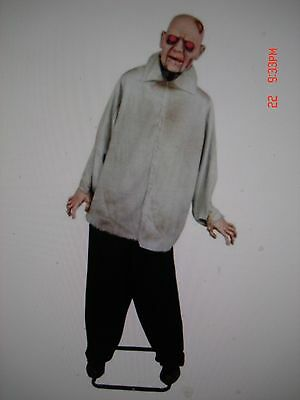 72 in. Animated Twisting Body Zombie With LED Illuminated Eyes Halloween Prop