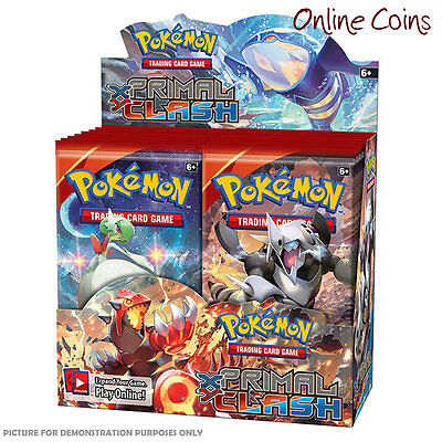 POKEMON TCG Primal Clash - FOUR 10 Card Booster Packs - 40 CARDS IN TOTAL!
