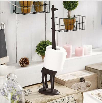 Giraffe Paper Towel Holder Cast Iron Metal Stand Bath Kitchen Roll Paper Holder