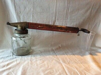 Antique Insect Sprayer The E.C. BROWN COMPANY Glass- Brass- Tin.