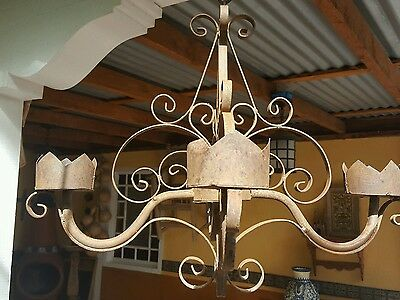 REDUCED - Rustic/Vintage Mexican/Spanish Iron Chandelier
