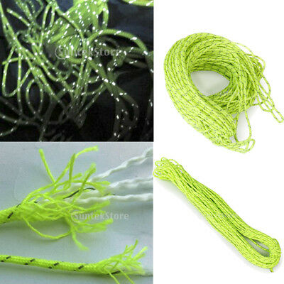 20M Outdoor Camping Tarp Tent Reflective Guyline Rope Guy Line Cord Paracord New