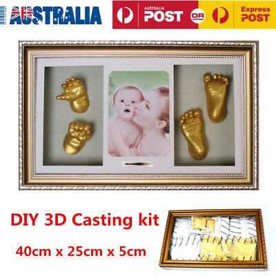 Baby Keepsake DIY 3D Casting kit 100% Safe & Shadowbox photo frame AU Stock