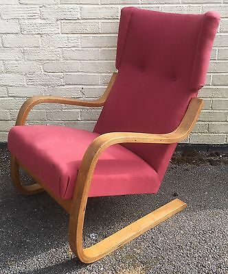 Rare Alvar Aalto 401 High Back lounge Chair  Finmar Danish