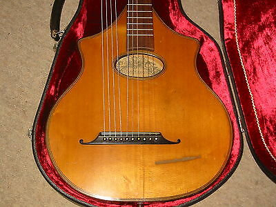 "AMAZING harp guitar ""Halbmeier München"" Beautifully flamed, very old, 10string"