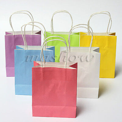 5 /10pcs Luxury Party Bags-Kraft Paper Wedding Gift Bag With Handles Recyclable