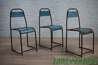 Vintage Industrial Stacking Metal Garden Cafe Bar Chairs 32 AVAILABLE