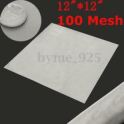 100 Mesh 304 Stainless Steel Woven Wire Filtration Filter Sheet Screen 30 x 30cm