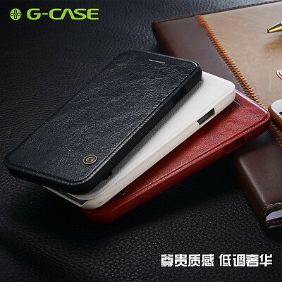 G-case Slim Leather Flip Cover Card Wallet Case For Samsung Galaxy S7 Edge